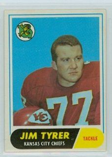 1968 Topps FB 15 Jim Tyrer Chiefs Near Mint at 's Sports Collectibles Store
