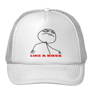 Like a boss meme face hats