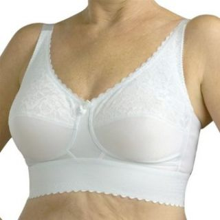 Nearly Me Postsurgical Lace Wide Band Soft Cup Bra Style 610