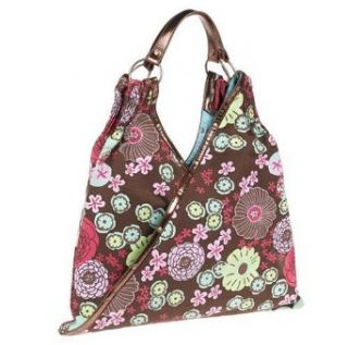 Necessary Objects Juniors Rosa V Shaped Tote, Brown: Clothing