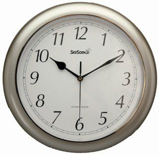 Equity Time 28512 SkyScan Atomic Analogue Clock   Never Needs Setting   Wall Clocks
