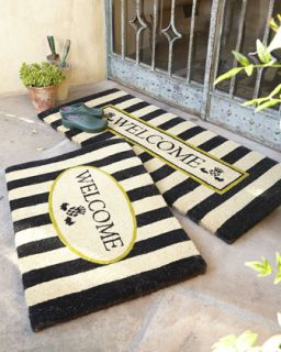 Awning Stripe Double Door Welcome Mat   MacKenzie Childs