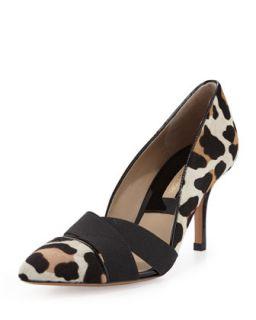 Stephanie Elastic Calf Hair Pump   Michael Kors   Suntan leopard (38.0B/8.0B)
