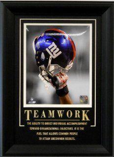 "New York Giants Framed NFL Football Helmet Raised High  ""Teamwork"" : Sports Fan Photographs : Sports & Outdoors"