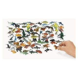 Toy / Game Under The Sea   Ninety Pieces Plastic Sea's Animal Life Creatures ( Measures 2 1/4 inches ) Toys & Games