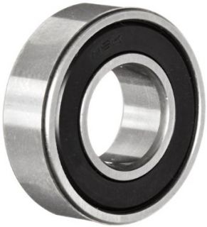 NSK 6202 16MVVC3 Deep Groove Ball Bearing, Single Row, Double Sealed, Non Contact, Pressed Steel Cage, C3 Clearance, Metric, 16mm Bore, 35mm OD, 11mm Width, 20000rpm Maximum Rotational Speed, 843lbf Static Load Capacity, 1720lbf Dynamic Load Capacity: Indu