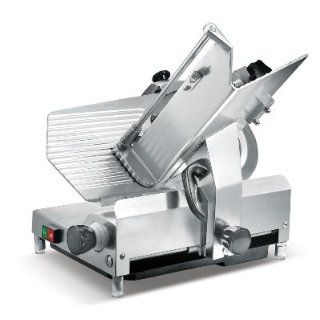 "Presto PS 12D Anodized Aluminum Meat Slicer, Belt Drive Transmission, 12"" Blade, 32 25/128"" Width x 17 1/2"" Height x 20 51/64"" Depth: Industrial & Scientific"