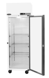 "Nor Lake Scientific NSSP242WWW/4 Galvanized Steel Painted White Select Pass thru Refrigerator with 2 Solid Doors, 208/230V, 60Hz, 25.6 cu ft Capacity, 27 1/2"" W x 79 5/8"" H x 34 7/8"" D, 2 to 10 Degree C: Science Lab Refrigerators: Industrial"