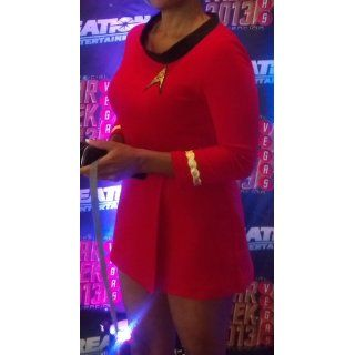 Star Trek Costume Cotton Female Duty Uniform Red: Clothing