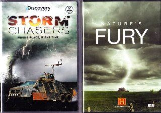 The Discovery Channel : Storm Chasers Complete Season two , The History Channel Killer Weather 7 Episode Box Set Collection : Tornadoes Nature's Death Spirals , Hurricanes Deadly Wind Deadly Rain , Nor'easters Killer Storms ,Tsunami Killer Waves ,