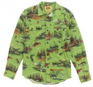 Billionaire Boys Club Men's Fly Fishing Flannel Button Up Shirt at  Men�s Clothing store