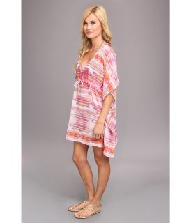 Echo Design Colorful Kaleidoscope Silky Cover Up Hot Pink