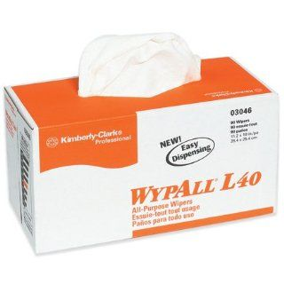 Kimberly Clark   WypAll L40 All Purpose Wipers Dispenser Box, 810 PER CASE : Packing Materials : Office Products