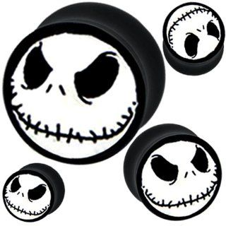 1 Pair of 00g 10mm 00 Gauges Gauge 00 G Flesh Tunnels Flesh Tunnel Double Flare Flared Ear Plugs Stretcher Expander Body Piercing Jewelry Nightmare Before Christmas Ear Plug Earlets Gauge Expanders Stretchers Ears Earring Earrings (00g  10mm) Everything