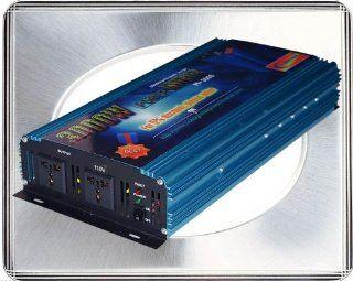 3000 Watt Continual 6000 Watt Surge Modified Sine Wave Power Inverter Converter Transformer 12 V Dc Input / 220 V 240 V Ac Output 60 Hz Frequency Power Tools : Vehicle Power Inverters : Car Electronics