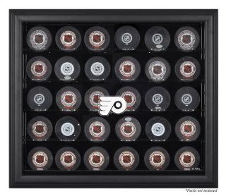 Philadelphia Flyers Black Framed 30 Hockey Puck Logo Display Case : Sports Related Display Cases : Sports & Outdoors