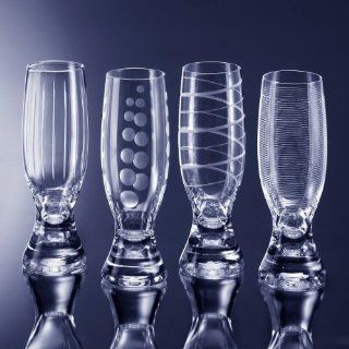 Mikasa 5047668 Cheers Selections Champagne Flute   Set Of 4: Kitchen & Dining