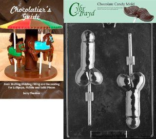 """Cybrtrayd """"Pecker Pop"""" Chocolate Candy Mold with Chocolatier's Guide Kitchen & Dining"""