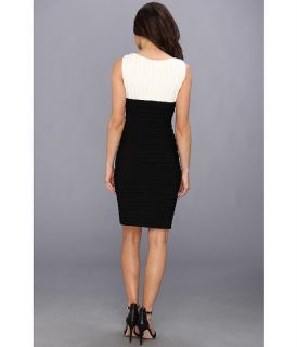 Calvin Klein Two Tone Matte Jersey Dress CD3A2WAD Cream/Black