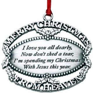 Mooney Pewter Merry Christmas from Heaven Ornament & Bookmark   MOONE01 MTC   Loved Ones Christmas Ornaments