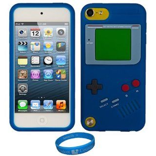 Magic Blue Gameboy Skin Cover for Apple iPod Touch 5 + SumacLife TM Wisdom Courage Wristband : MP3 Players & Accessories