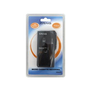 Craig Micro Cassette Voice Recorder with LED Recording Indicator (CR8003) Electronics