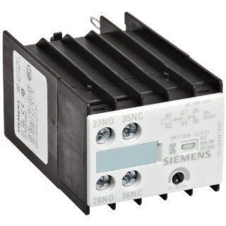 Siemens 3RT19 16 2EC31 Time Delay Auxiliary Switch Block, Solid State, Snap Onto the Front Terminal, On Delay, Varistor Integrated, S0 Size, 5   100s Time Setting Range, 100 127VAC Rated Control Supply Voltage Motor Contactors Industrial & Scientific