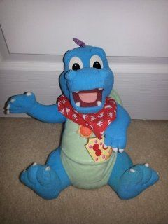 1999 Playskool Dragon Tales Talking Hungry Hiccuping Ord Blue Dragon Stuffed Animal Plush Toy Toys & Games