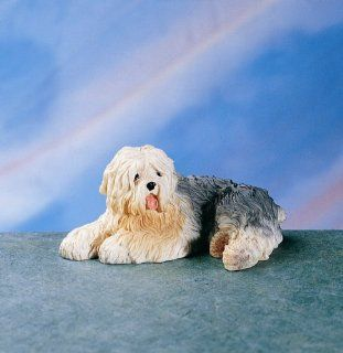 Dog Old English Sheepdog Figurine Statue   Collectible Figurines