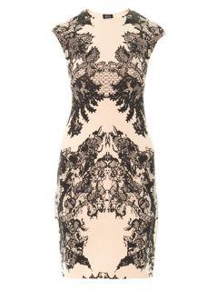 Lace print jersey dress  McQ Alexander McQueen  MATCHESFASHI