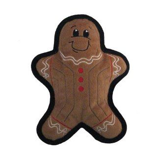 Kyjen Holiday Tuff Ones Gingerbread Man Plush Dog Toy : Toy Shoppe : Pet Supplies