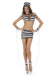 Sexy Jail Bait Prisoner Costume   MEDIUM: Adult Sized Costumes: Clothing