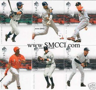 2008 Upper Deck Sp Authentic Baseball Series Complete Mint Basic 100 Card Set Including Alex Rodriguez, Derek Jeter, Albert Pujols, Ryan Howard, Josh Hamilton, Frank Thomas, Chipper Jones, Randy Johnson, Ken Griffey Jr., David Wright, Jose Reyes, Greg Madd