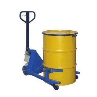 "Beacon Portable Drum Jack; Acceptable Drum Styles: 55 Gallon Fiber; Overall Length: 39""; Overall Width: 43 1/2""; Lift Height: 20""; Capacity (LBS): 1, 000; Model# BDRUM 55FP: Drum And Pail Deheaders: Industrial & Scientific"