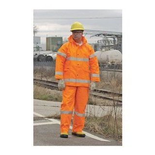 Hi Vis Rain Bib Overall, Orange, 4XL: Home Improvement