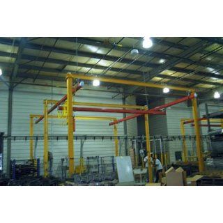 Beacon Self Support Bridge Crane; Runway Length (Feet): 20; Bridge Length (Feet): 10; Overall Height (Feet): 14; Capacity (LBS): 500; Model# BB1020 500: Industrial & Scientific