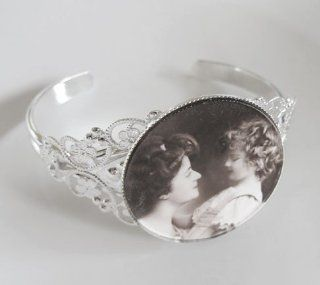 Filigree Photo Jewelry Cuff Bracelet Blank