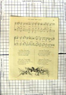 Music Song Lyrics The Girls Own Carol Silent Night   Prints