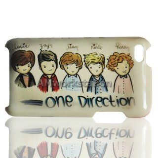 Cartoon One Direction Zayn Malik Liam Payne Niall Horan Louis Tomlinson Harry Styles 5 Pattern Case for Apple iPod Touch 4 4th Generation ANY Color Black Silver : MP3 Players & Accessories