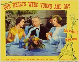 Our Hearts Were Young and Gay POSTER Movie (1944) Style B 11 x 14 Inches   28cm x 36cm (Gail Russell)(Diana Lynn)(Charles Ruggles)(Dorothy Gish)(Beulah Bondi)   Prints