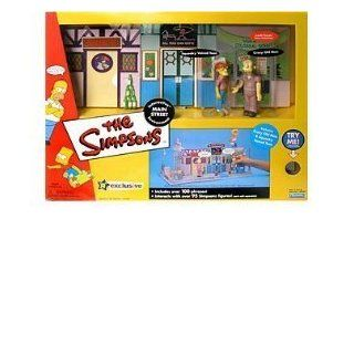 The Simpsons Exclusive Playset Main Street with Crazy Old Man and Squeaky Voiced Teen Toys & Games