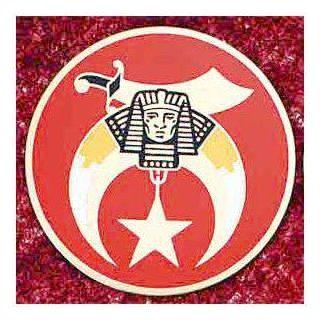 "SHRINE Shriner 3"" LARGE ALL Metal Masonic Motorcycle / Auto Car Emblem Sticker Badge Mason, Freemason Freemasons Free Mason Masons Masonic Masonry Freemasonry Past Masters' Emblem Shriner,york Scottish Rite, ,Grotto,movper, Craft Lodge Entered App"