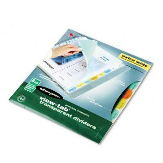 Wilson Jones Products   Wilson Jones   View Tab Index Dividers, Eight Tab, Extra Wide Square, Letter, Assorted, 1 Set   Sold As 1 Set   Customize Table of Contents and tab sheet by using preformatted templates or your own graphics and images.   Tab titles