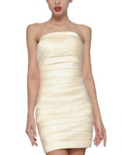 DAPENE Sexy Over Hip Tight Short Skirt Bridesmaid Wedding Dress Nightclub at  Women�s Clothing store: