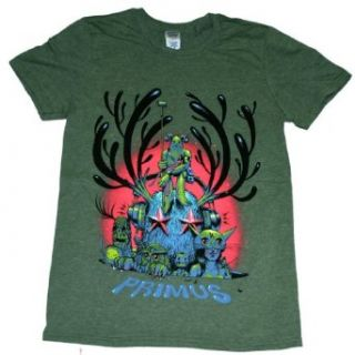 Primus   Antlers T Shirt Size S: Music Fan T Shirts: Clothing