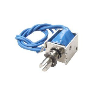 DC 12V Push Type Open Frame Solenoid Electromagnet Actuator 10mm 4N: Electronic Component Solenoids: Industrial & Scientific