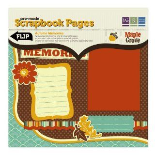 Maple Grove Autumn Memories Pre made Scrapbook Pages  We R