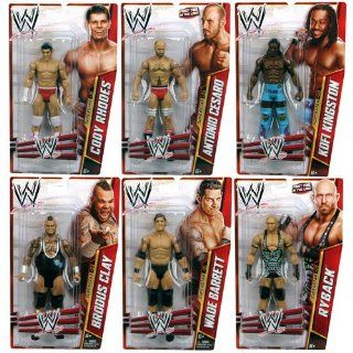 "WWE Basic 6"" Figure Series 27 Action Figure Set [Ryback, Cody Rhodes, Kofi Kingston, Wade Barrett, Brodus Clay & Antonio Cesaro]: Toys & Games"