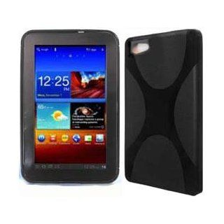 "Samsung Galaxy Tab 7.0"" Plus Black Case for Tablet Softer Gel Cover ""X"" Wrap Skin TPU Protector Computers & Accessories"