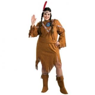 Native American Girl Plus Size Costume, 16 22 Clothing